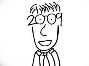 メガネが「2009」